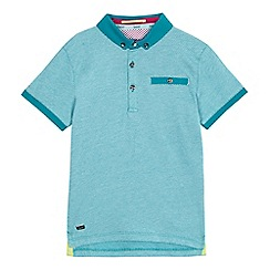 Baker by Ted Baker - Boys' green jacquard polo shirt