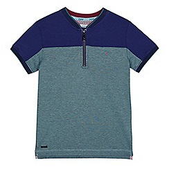 Baker by Ted Baker - Boys' green zip neck polo shirt
