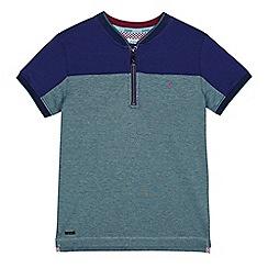 Baker by Ted Baker - Boys' green zip neck polo shirt