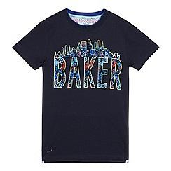 Baker by Ted Baker - Boys' navy logo print t-shirt