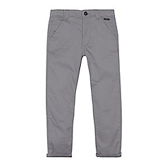 Baker by Ted Baker - Boys' grey puppytooth stretch chinos
