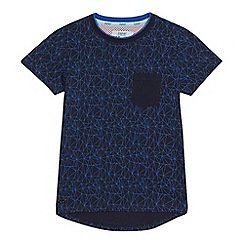 Baker by Ted Baker - Boys' navy geometric print t-shirt