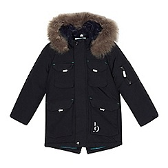 Baker by Ted Baker - Boys' black faux fur parka