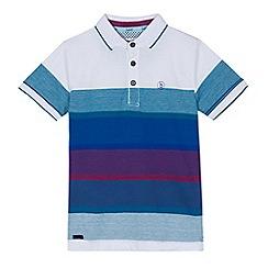Baker by Ted Baker - Boys' multi-coloured striped polo shirt