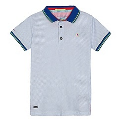 Baker by Ted Baker - Boys' white geometric print tipped polo shirt