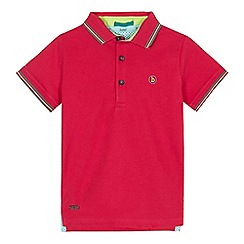 Baker by Ted Baker - Boys' pink tipped polo shirt
