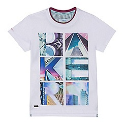 Baker by Ted Baker - Boys' white logo print t-shirt