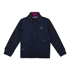 Baker by Ted Baker - Boys' navy concealed hood sweater