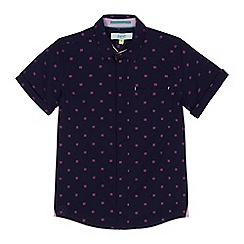 Baker by Ted Baker - Boys' navy textured square shirt