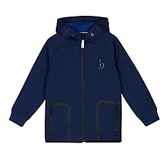 Baker by Ted Baker - Boys' blue zip through hooded jacket