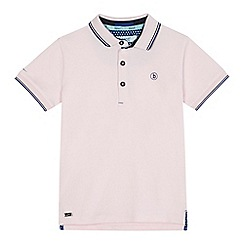 Baker by Ted Baker - Boys' light pink tipped polo shirt