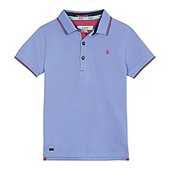 Baker by Ted Baker - Boys' lilac logo print polo shirt