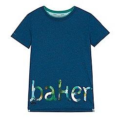 Baker by Ted Baker - Boys' blue high shine logo t-shirt