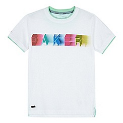 Baker by Ted Baker - Boys' white graphic print t-shirt