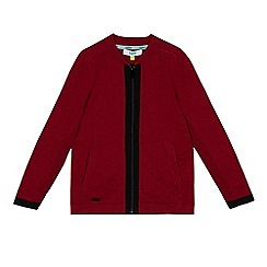 Baker by Ted Baker - Boys' red knitted zip through sweater