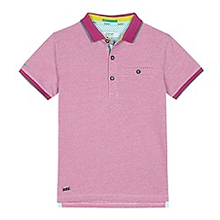 Baker by Ted Baker - Boys' pink textured polo shirt