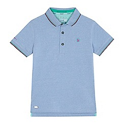 Baker by Ted Baker - Boys' light blue textured polo shirt
