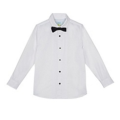 Baker by Ted Baker - Boys' white tuxedo shirt and black bow tie set