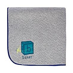 Baker by Ted Baker - Baby boys' multi-coloured embroidered borg blanket