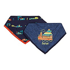 Baker by Ted Baker - Pack of two baby boys' vehicle print bibs