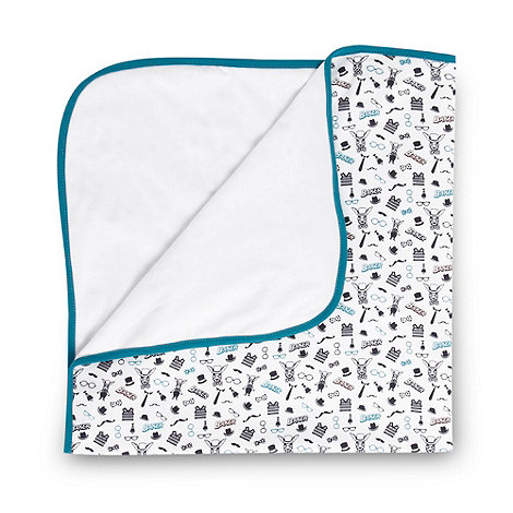 Baker by Ted Baker - Babies turquoise glasses blanket