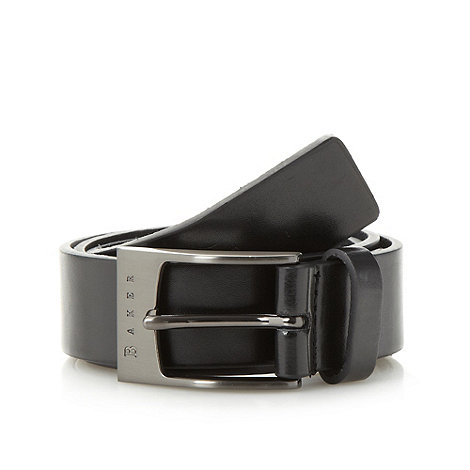 Baker by Ted Baker - Boy+s black branded buckle belt