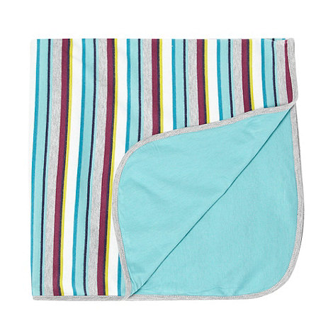 Baker by Ted Baker - Babies grey striped blanket