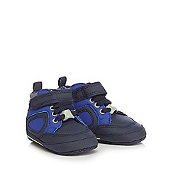 Baker by Ted Baker - Baby boys' navy reflective hightop trainers