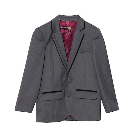 Baker by Ted Baker - Boy+s grey  Baker Best+ suit jacket