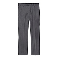 Baker by Ted Baker - Boy's grey herringbone trousers