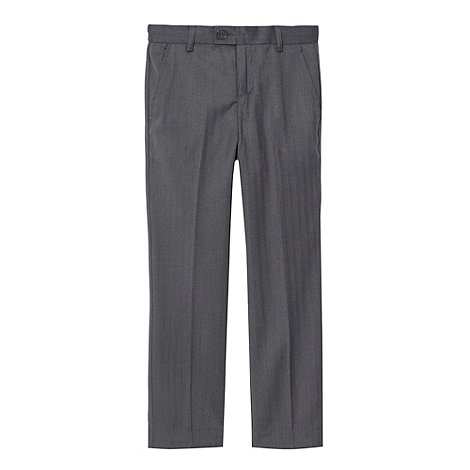 Baker by Ted Baker - Boy+s grey herringbone trousers