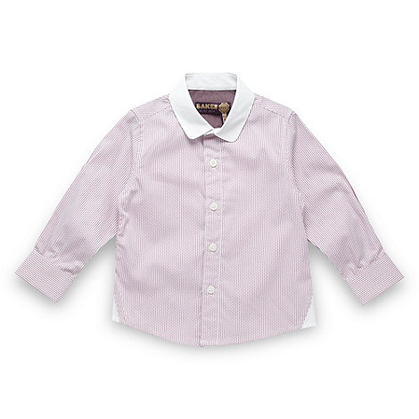 Baker by Ted Baker - Boy+s lilac broken striped shirt