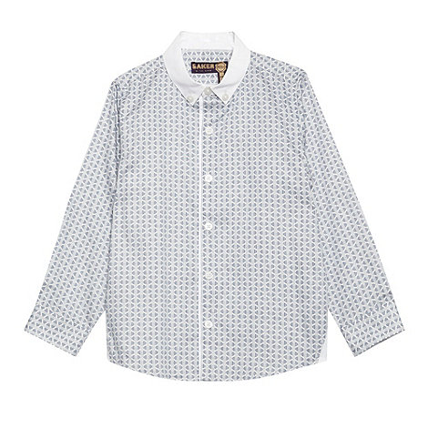 Baker by Ted Baker - Boy+s navy geo printed smart shirt