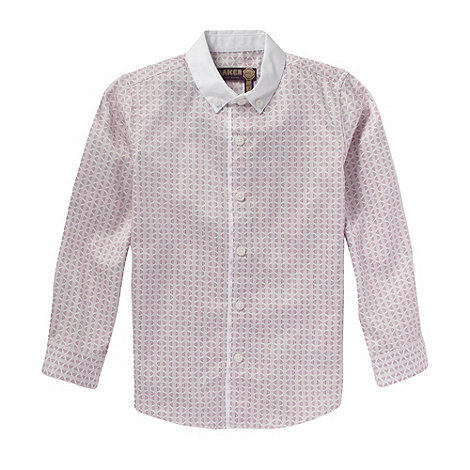 Baker by Ted Baker - Boy+s pink geo printed smart shirt