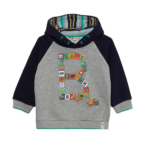 Baker by Ted Baker - Babies navy building blocks logo sweat hoodie