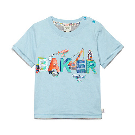 Baker by Ted Baker - Babies blue logo t-shirt