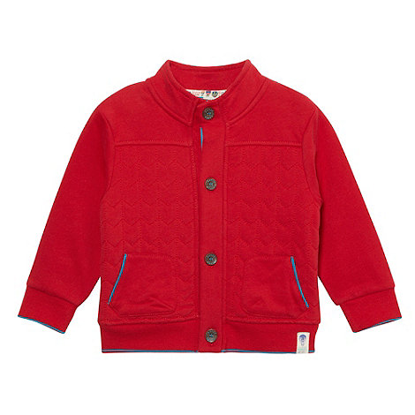 Baker by Ted Baker - Designer babies red quilted bomber sweat