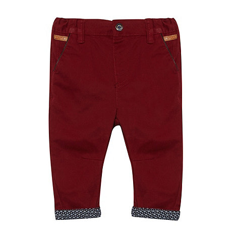 Baker by Ted Baker - Babies dark red peg leg chinos
