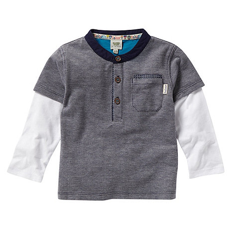 Baker by Ted Baker - Babies navy textured long sleeve top