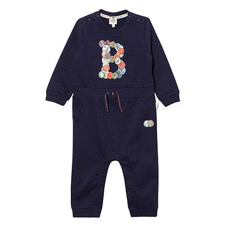 Baker by Ted Baker - Babies navy logo print romper suit