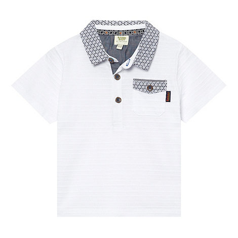 Baker by Ted Baker - Babies white striped pique polo shirt