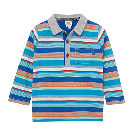 Baker by Ted Baker - Babies blue multi striped polo shirt