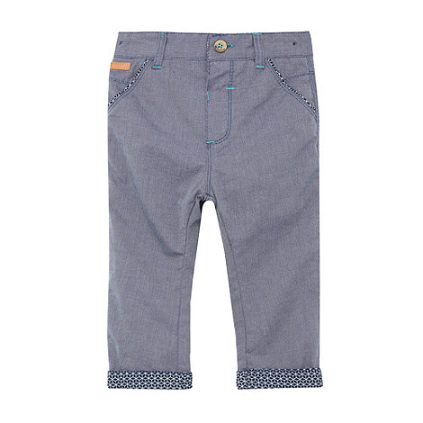 Baker by Ted Baker - Babies blue chambray geometric trousers