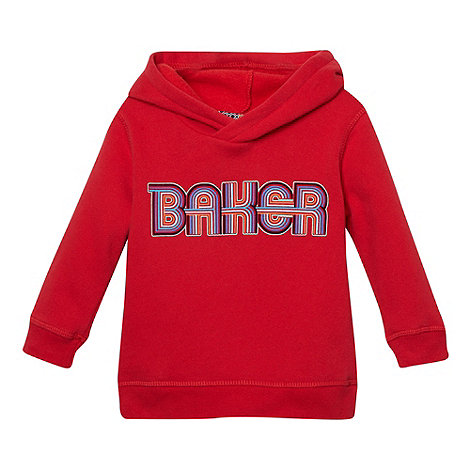 Baker by Ted Baker - Babies red graphic logo sweat hoodie