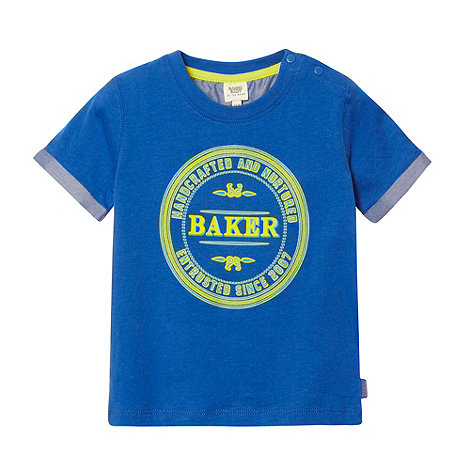 Baker by Ted Baker - Babies blue printed stamp top