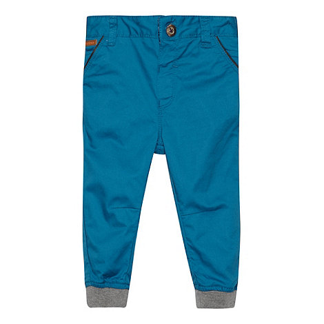 Baker by Ted Baker - Babies turquoise cuffed chinos