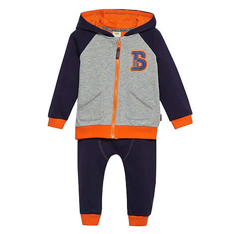 Baker by Ted Baker - Babies navy sweat hoodie and jogging bottoms set