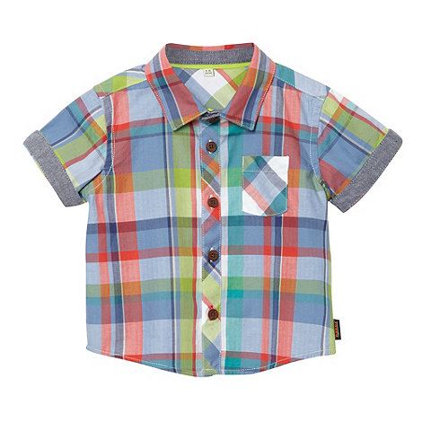 Baker by Ted Baker - Babies blue checked shirt