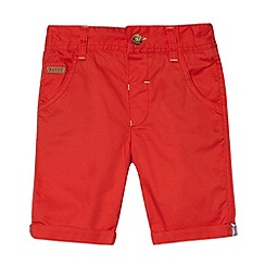 Baker by Ted Baker - Babies red twill chino shorts