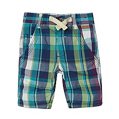 Baker by Ted Baker - Babies turquoise multi checked shorts